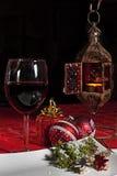 Weihnachtsspiritus? mit Sankt und Noel Lizenzfreie Stockbilder