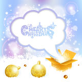 Weihnachtssprache-Blase Stockfotografie