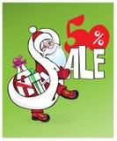 Weihnachtssprache-Blase mit Santa Claus Hat, Vektor Lizenzfreie Stockfotografie
