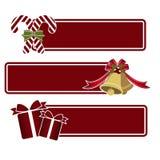 Weihnachtsspracheblase Stockfotografie