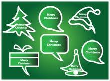 Weihnachtsspracheblasen Lizenzfreie Stockfotos