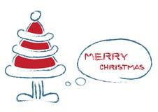 Weihnachtssprechenbaum Lizenzfreies Stockfoto