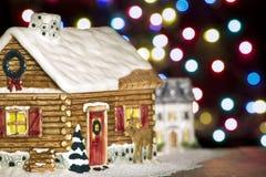Weihnachtsstadt stockbilder
