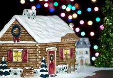 Weihnachtsstadthintergrund lizenzfreies stockbild