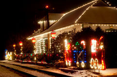 Weihnachtsstation stockfoto