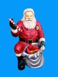 Weihnachtsstatue von Weihnachtsmann stockbild