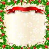 Weihnachtsstechpalme-Rand Stockfoto