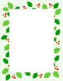 Weihnachtsstechpalme Rand Stockfotos