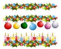 Weihnachtsstechpalme-Ränder Lizenzfreies Stockfoto