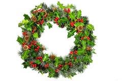 Weihnachtsstechpalme Wreath Stockfoto