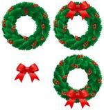 Weihnachtsstechpalme Wreath Lizenzfreies Stockbild