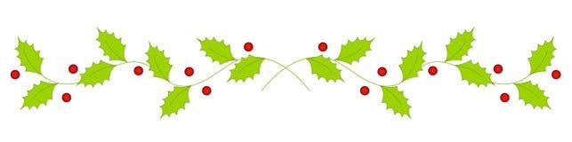 Weihnachtsstechpalmeteiler/-rand Stockbild
