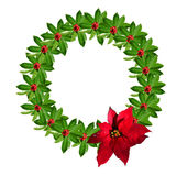 WeihnachtsstechpalmeWreath Lizenzfreies Stockfoto