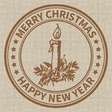 Weihnachtsstempel Lizenzfreies Stockbild