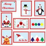 Weihnachtsstempel eingestellt Stockfoto