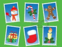 Weihnachtsstempelset Lizenzfreies Stockfoto