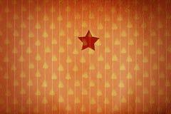 Weihnachtsstern im roten Weihnachtstapetenhintergrund Lizenzfreie Stockfotografie