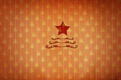 Weihnachtsstern im roten Weihnachtstapetenhintergrund Lizenzfreies Stockbild