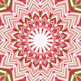 Weihnachtsstern-Mandala Stockfoto