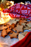 Weihnachtsstern-Plätzchen Lizenzfreie Stockfotografie