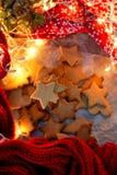 Weihnachtsstern-Plätzchen Lizenzfreies Stockbild