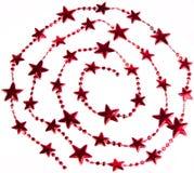 Weihnachtsstern-Spiraledekoration Lizenzfreies Stockbild