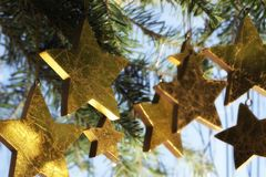 Weihnachtssternaufbau Stockfotografie