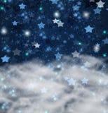 Weihnachtssterne auf Blau  Hintergrund Stockfotos