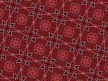 Weihnachtssterne und swirly Linien Muster vektor abbildung