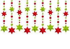 Weihnachtssternenklare Dekorationen auf Weiß Lizenzfreie Stockfotografie