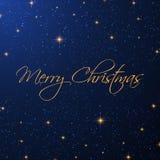 Weihnachtssternenklarer Hintergrund lizenzfreie abbildung