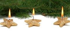 Weihnachtssternkerzen Lizenzfreie Stockfotografie