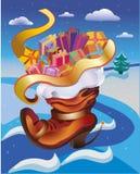 Weihnachtsstiefel Stockbild