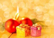 Weihnachtsstillleben Lizenzfreies Stockbild