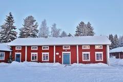 Weihnachtsstimmung am Freiluftmuseum Hägnan in Gammelstad Stockfoto