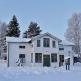 Weihnachtsstimmung am Freiluftmuseum Hägnan in Gammelstad Lizenzfreies Stockbild