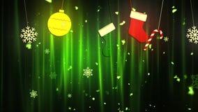 Weihnachtsstoff verziert 1 Loopable-Hintergrund stock video