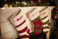 Weihnachtsstrümpfe lizenzfreie stockfotos