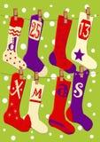 Weihnachtsstrümpfe stock abbildung