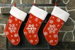 Weihnachtsstrümpfe stockfotografie