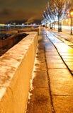 Weihnachtsstraße im St. Petersburg Lizenzfreie Stockfotos