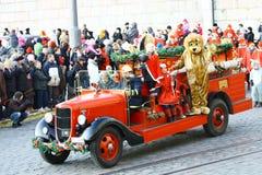 Weihnachtsstraßenöffnung in Helsinki Lizenzfreie Stockfotos