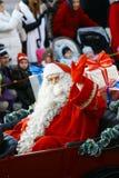 Weihnachtsstraßenöffnung in Helsinki Stockfotos