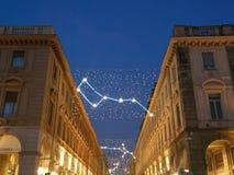 Weihnachtsstraßenlaterne Stockfoto