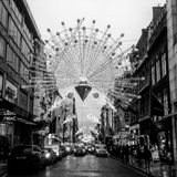 WeihnachtsstraßenlaterneLONDON 2016 Lizenzfreie Stockfotografie