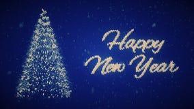 Weihnachtsstrickjacke guten Rutsch ins Neue Jahr Weihnachtsabendsintro stock abbildung