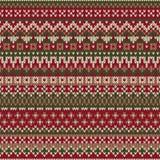 Weihnachtsstrickjacken-Design Nahtloses gestricktes Muster im traditiona Lizenzfreies Stockbild