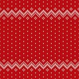 Weihnachtsstrickjacken-Design Nahtloses Muster Lizenzfreie Stockbilder