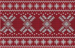 Weihnachtsstrickjacken-Design Nahtloses Muster Stockbilder