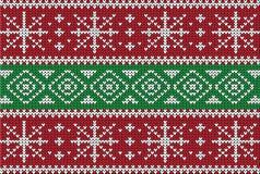 Weihnachtsstrickjacken-Design Nahtloses Muster Stockbild